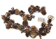 Xmas Cone,Snow Berry garland FREE 20 LED Battery lights xmas decoration