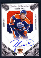 TAYLOR HALL 10/11 CROWN ROYALE ROOKIE SILHOUETTES 2C JERSEY PATCH AUTO / 99