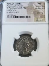 Roman Empire Probus MS 4/4 Aurelianianus Minerva. Ancient silver coin