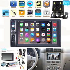 """2DIN 7"""" HD Car Stereo Radio MP5 Player Bluetooth Touch Screen & Rear Camera US"""