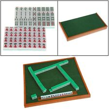 Mini 144 Mahjong Set Foldable mAh Jong Table Traditional Game Travel Portable