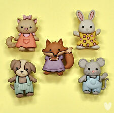 Dress IT UP pulsanti FOREVER FRIENDS 9322-GATTO Bunny Rabbit FOX DOG mouse GATTINO