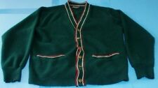 Vintage Orlon Campus Green Cardigan Sweater Size Small FREE SHIP Made in USA