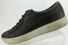 Ecco Fashion Sneakers Brown Leather Casual Sport Comfort Shoes Mens 46 US11,11.5