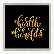 Black Gold Health Benefits Quote Drinks Mat Coaster