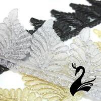 Embroidered Trim - Fern Leaf Applique 6.5cm Style 5163 (Price per 50cm) - Sew...