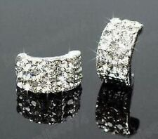 Silver Coloured Huggie Costume Earrings
