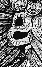 Digital Download Print Your Own Coloring Book Outline Page - Dia De Los Muertos