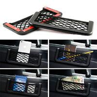 2× Voiture Rangement Tulle Élastique Cordes Téléphone GPS Sac de Organisateur