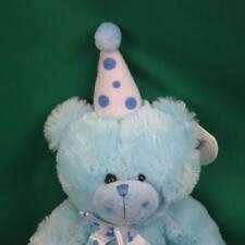 NEW BEVERLY HILLS TEDDY BEAR BABY BOY BLUE POLKADOT HAT BOW PLUSH STUFFED ANIMAL
