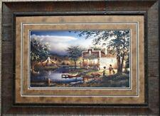 Terry Redlin Summertime Fishing Children  Art Print-Framed 27.5 x 20.5