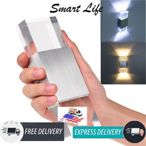 Wall Light Modern LED Up Down Sconce Dual Deco Head Lamp Fixtures Outdoor Indoor