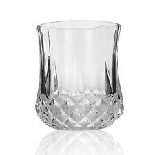 Juice Glasses Set of 4 Water Beverage Glassware Diamond Cut Clear Glass 9 Oz