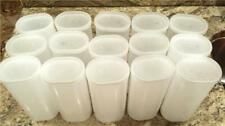 Crystal Light Empty Plastic Containers Craft Hobby Coin Nail Storage - Lot Of 15