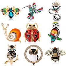Rinhoo Animal Bird Owl Dog Cat Enamel Brooch Pin Wedding Women Costume Jewellery