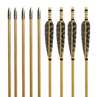 24x 31.5'' Arrows Wood Shaft Traditional Archery Recurve Bow Longbow Hunting US