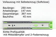 Schubladenschienen Teleskopauszüge Selbsteinzug Dämpfer Vollauszug 250-700 mm
