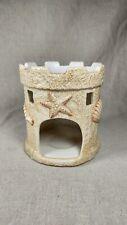 Yankee Candle Tart Burner Warmer Ceramic Sand Castle Seashells Beach Holder