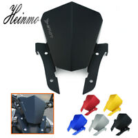 5color Motorcycle Aluminum Windshield Windscreen For Yamaha MT-07 MT07 2013-2015