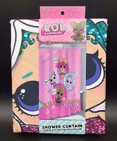 """L.O.L. Surprise! Shower Curtain Glitter Surprise 72""""x72"""" New"""