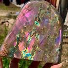 3.34LBNatural+purple+flash+Labrador+crystal+rough+healing+specimenDM409