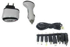 Carica Batterie Usb Auto 12v Casa Universale 8 Adattatori Linq Ipod12