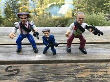 Dick Tracy Action Figure Lot Flattop & Pruneface w/ Weapons, 1990 Playmates