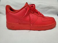 Nike Air force 1 Low 07 LV8 triple red AF1 leather men's SZ 8.5