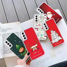 For Samsung Models S21 S20 FE A21s Xmas Santa Snowman GEL Phone Case Cover 094