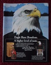1983 Print Ad Eagle Rare Bourbon Whiskey ~ A Higher Level of Taste Bald Eagle