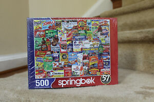 Springbok's 500 Piece Jigsaw Puzzle Looney Labels - Made in USA NEW