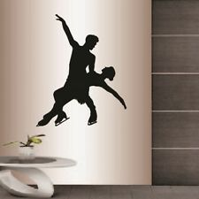 Vinyl Decal Pair Figure Skating Ice Skating Sports Couple Wall Sticker 2374