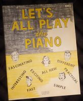 Let's All Play the Piano Lesson Book by OW Appleton with Money-back Gaurantee!!