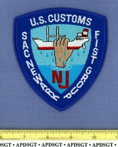 USCS FIST DRUG CONTRABAND TASK FORCE NEWARK NEW JERSEY Federal  Police Patch