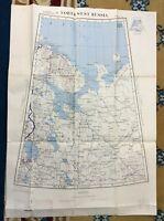 1954 Vintage Militär Karte Russland USSR Sowjetisch US Corps Raf Air Force Kalte