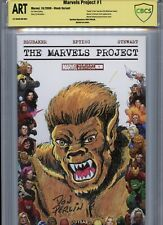 WEREWOLF BY NIGHT Sketch cover art by DON PERLIN CBCS SS ART not CGC Marvel