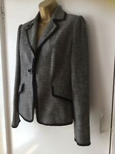 Principles Lined Jacket Vgc Size 10 Polyester Viscose Grey