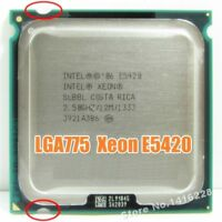 works on LGA 775 motherboard Xeon E5420 Processor 2.5GHz 12M 1333Mhz close to