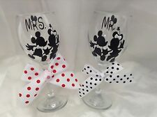 Mr and Mrs Wine Glasses Disney Wedding, Perfect Gift For Bride And Groom