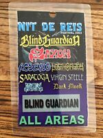 "Blind Guardian Festival Pass ""Nit de Reis"" + Saxon Barcelona December 2003"