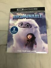 Abominable (4K Ultra HD + Blu Ray) w/ Slipcover! No Digital