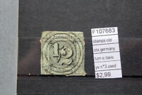 STAMPS OLD STATES GERMANY TURN & TAXIS YVERT N°3 USED (F107683)