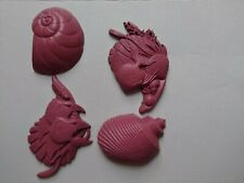 Vintage home interiors homco shell and fish wall art decor beach pink or paint