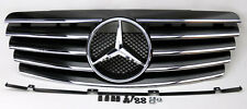 5 Fin Front Hood Sport Black Chrome Grill Grille for Mercedes CLK W208 98-03