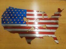 Usa Flag With Ducks Metal Wall Art Plasma Cut Home Decor Gift Idea Goose Hunter