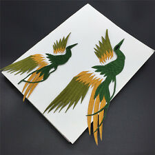 1set Phoenix Bird Iron on Embroidery lace Cloth Paste Fabric Applique Patch G1