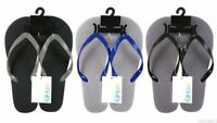 Mens Printed Flip Flops,High Quality Plastic Foam,Finished With  A Solid Colour
