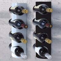 4 Wine Bottle Metal Rack Wall Mountable Storage Holder Display Shelf Organiser
