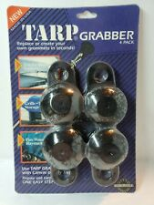 Fast Ship 4 Pack Black Tarp Grabbers 100% Recycled Material Tents-Banners (B#134