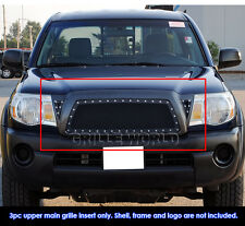 2005-2010 Toyota Tacoma Black Rivet Stainless Steel Mesh Grille Grill Insert